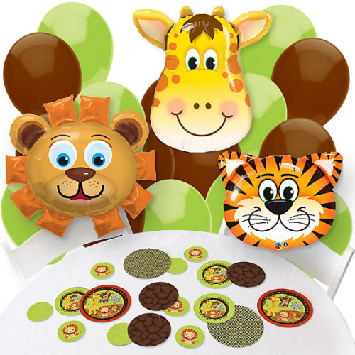 Jungle safari baby shower jungle baby shower ideas for Baby shower party junge