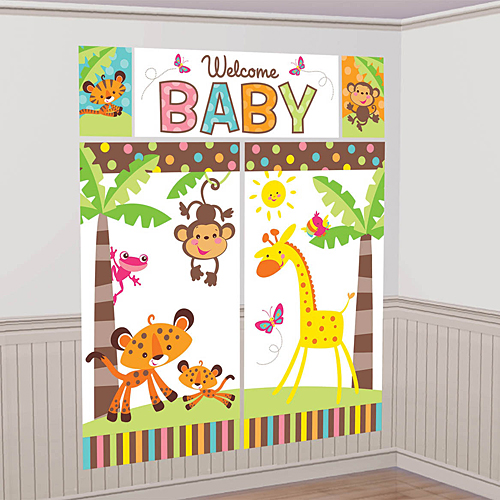 Fisher price baby shower for Baby shower wall decoration